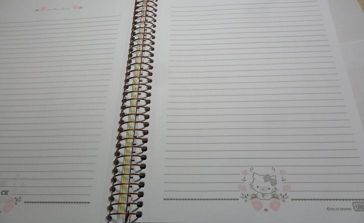 caderno novo folhas