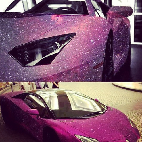 carro com glitter