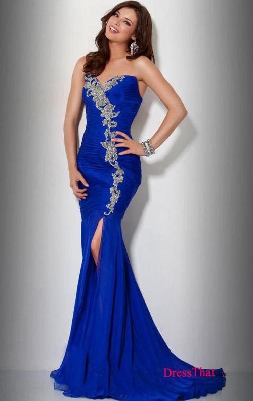 vestido sereia detalhe prateado