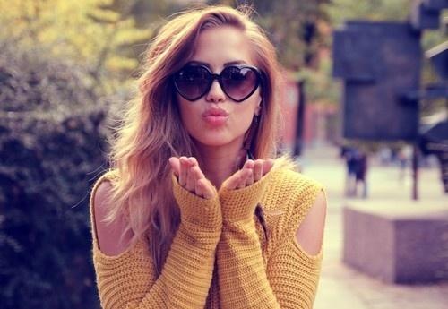 óculos coração beijo