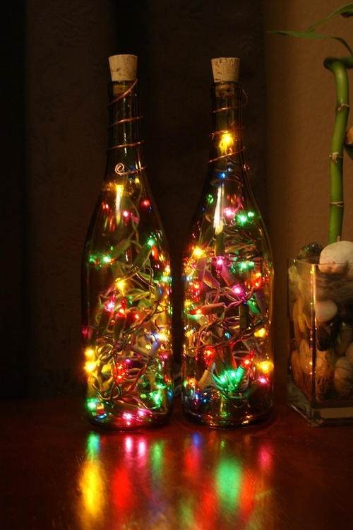 luz na garrafa