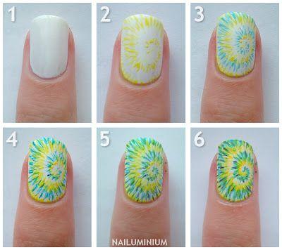 tie dye nail art2