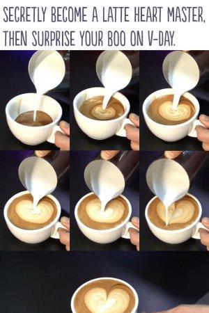 café coração na nata