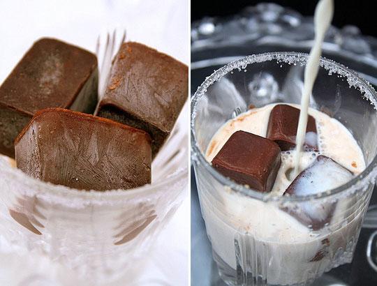 cubos de chocolate
