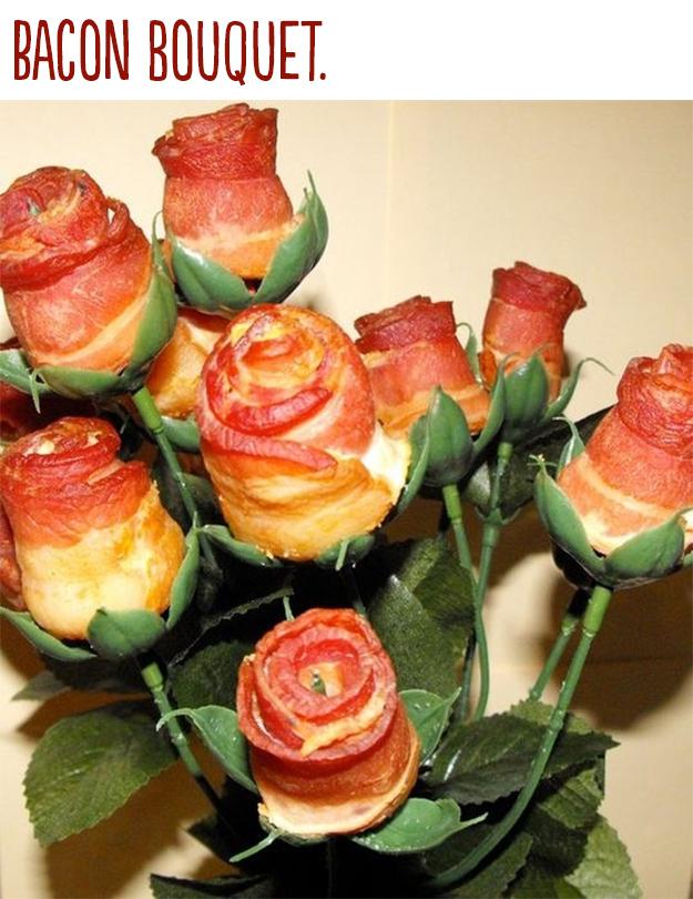 rosas de bacon