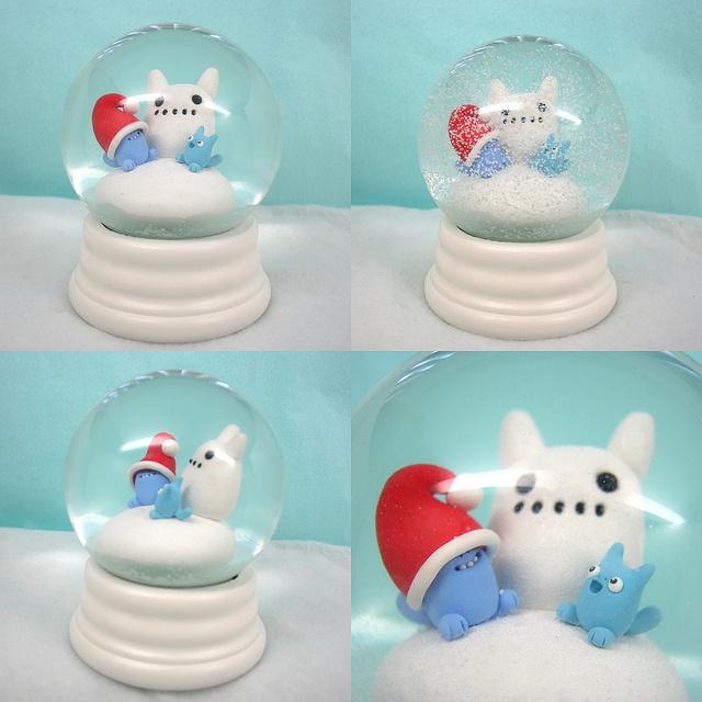 simples globos de neve