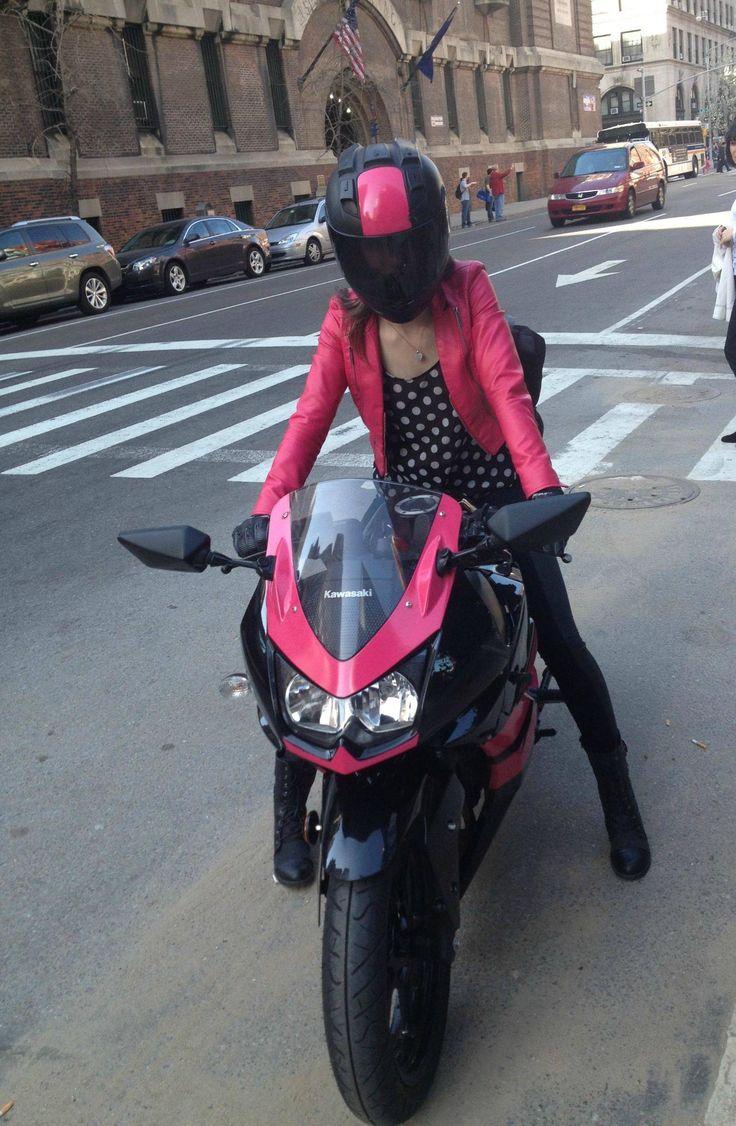 moto rosa preto