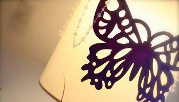 borboletas abajur