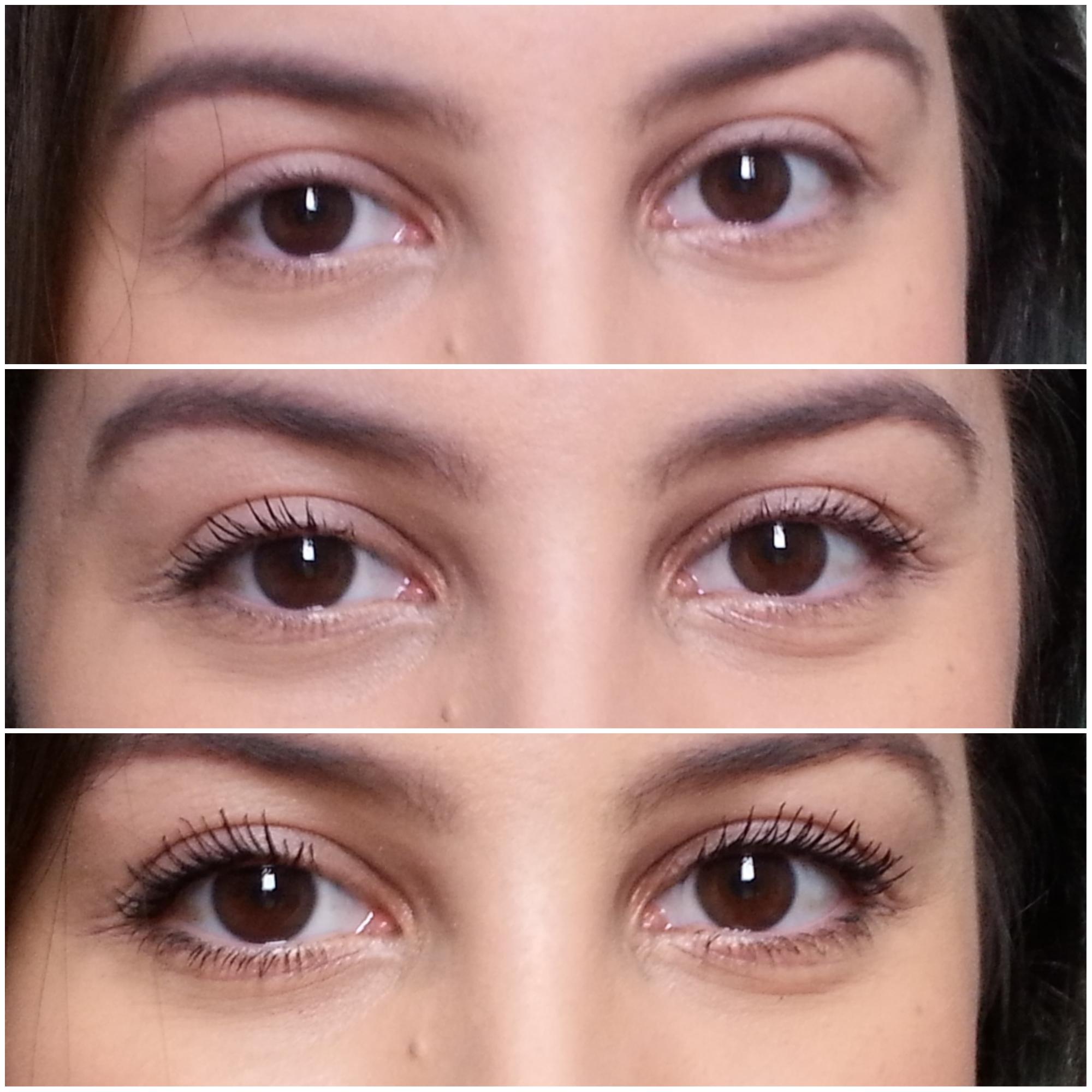máscara cílios sensacionais nos olhos